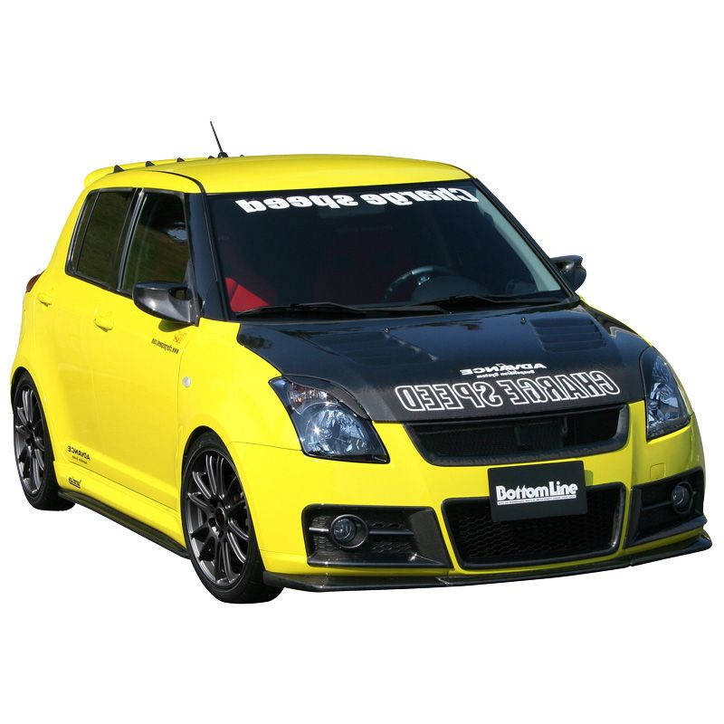 Chargespeed Front Spoiler Suzuki Swift II Sport 2005- 'Bottom Line' (FRP)