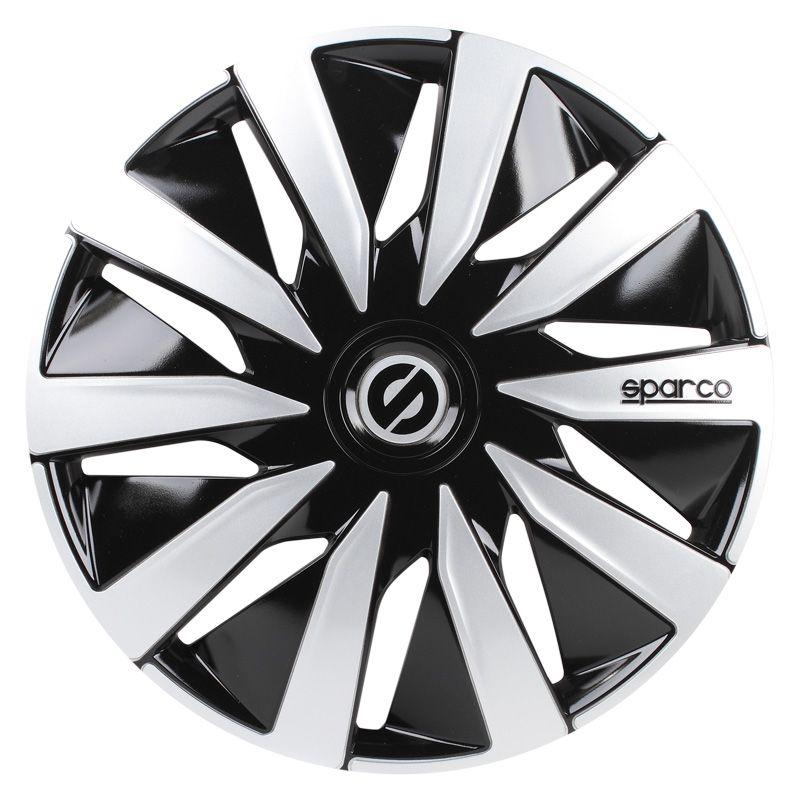 Set Sparco wheel covers Lazio 16-inch black silver AutoStyle -  1 in ... 4430e5e1f26